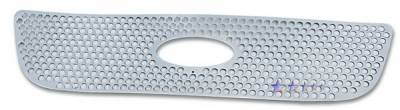 APS - Ford F150 APS Punch Grille - Honeycomb with Logo Opening - Upper - Stainless Steel - F45722O
