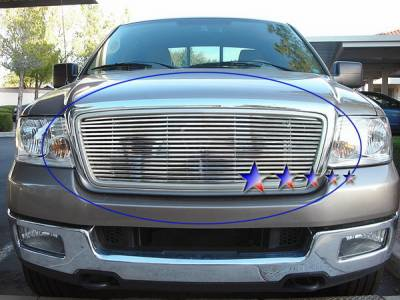 APS - Ford F150 APS Phat Grille - Honeycomb Style without Logo Phat Grille - Upper - Stainless Steel - F65725T