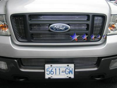 APS - Ford F150 APS Billet Grille - Bar Style - Upper - Stainless Steel - F65726S