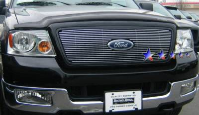 APS - Ford F150 APS Billet Grille - Honeycomb Style with Logo - Upper - Stainless Steel - F65727S