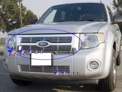 APS - Ford Escape APS Billet Grille - Upper - Aluminum - F65783A