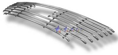 APS - Ford F150 APS Tubular Grille - Honeycomb without Logo Opening - Upper - Stainless Steel - F68010S