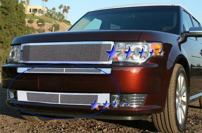 APS - Ford Flex APS Wire Mesh Grille - Bumper - Stainless Steel - F75221T