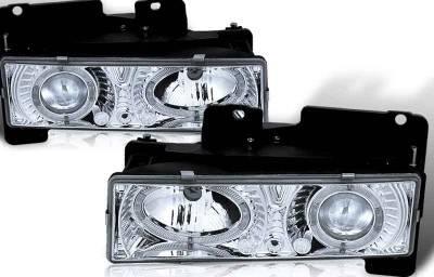 WinJet - GMC CK Truck WinJet Headlight - Chrome & Clear - WJ10-0002-01
