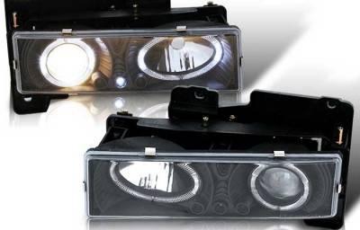 WinJet - GMC CK Truck WinJet Headlight - Black & Clear - WJ10-0002-04