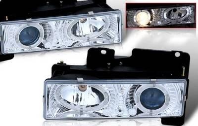 WinJet - Chevrolet Suburban WinJet Headlight - Chrome & Blue - WJ10-0002-15