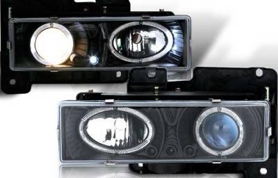 WinJet - Chevrolet CK Truck WinJet Headlight - Black & Blue - WJ10-0002-16
