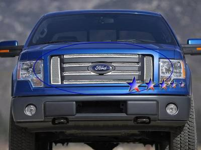 APS - Ford F150 APS Wire Mesh Grille - Upper - Stainless Steel - F76606T