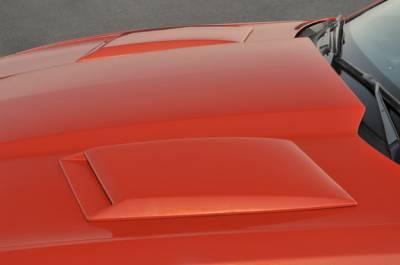 Xenon - Chevrolet Camaro Xenon Hood Scoop Kit - Left & Right with Black Vinyl Inserts - 12930