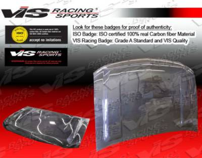 VIS Racing - Chevrolet Silverado VIS Racing OEM Black Carbon Fiber Hood - 00CHSUB4DOE-010C