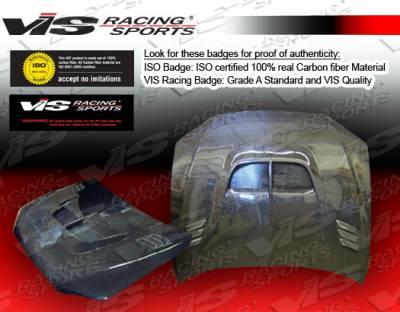 VIS Racing - Lexus IS VIS Racing Zyclone Black Carbon Fiber Hood - 00LXIS34DZYC-010C