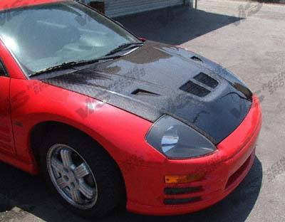 VIS Racing - Mitsubishi Eclipse VIS Racing EVO Black Carbon Fiber Hood - 00MTECL2DEV-010C