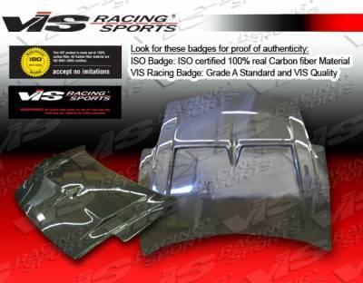VIS Racing - Mitsubishi Eclipse VIS Racing Monster Black Carbon Fiber Hood - 00MTECL2DMON-010C