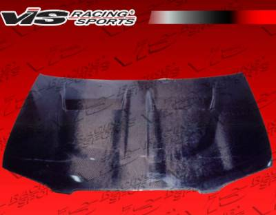 VIS Racing - Nissan Sentra VIS Racing Xtreme GT Black Carbon Fiber Hood - 00NSSEN4DGT-010C