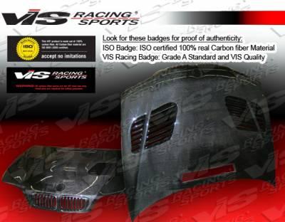 VIS Racing - BMW 3 Series 2DR VIS Racing GTR Black Carbon Fiber Hood - 01BME46M32DGTR-010C