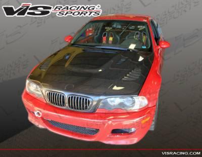 VIS Racing - BMW 3 Series 2DR VIS Racing XTS Black Carbon Fiber Hood - 01BME46M32DXTS-010C