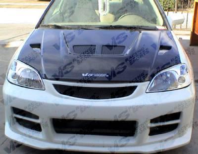 VIS Racing - Honda Civic 2DR & 4DR VIS Racing EVO Black Carbon Fiber Hood - 01HDCVC2DEV-010C