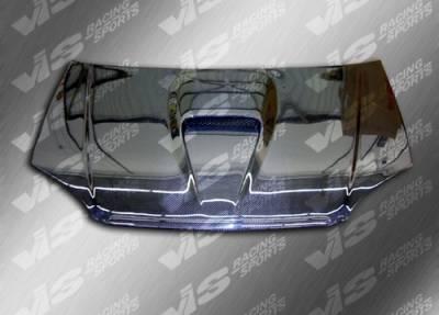 VIS Racing - Honda Civic 2DR & 4DR VIS Racing G Force Black Carbon Fiber Hood - 01HDCVC2DGF-010C