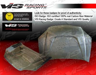 VIS Racing - Honda Civic 2DR & 4DR VIS Racing JS Black Carbon Fiber Hood - 01HDCVC2DJS-010C
