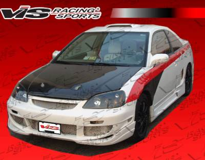 VIS Racing - Honda Civic 2DR & 4DR VIS Racing OEM Black Carbon Fiber Hood - 01HDCVC2DOE-010C