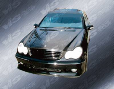 VIS Racing - Mercedes-Benz C Class VIS Racing OEM Black Carbon Fiber Hood - 01MEW2034DOE-010C