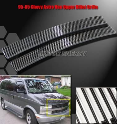 Custom - 95-05 Chevy Astro Van Front Upper Billet Grille