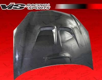 VIS Racing - Acura RSX VIS Racing JS Black Carbon Fiber Hood - 02ACRSX2DJS-010C