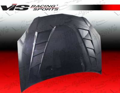 VIS Racing - Acura RSX VIS Racing Terminator Black Carbon Fiber Hood - 02ACRSX2DTM-010C