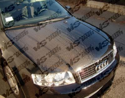 VIS Racing - Audi A4 VIS Racing OEM Black Carbon Fiber Hood - 02AUA44DOE-010C