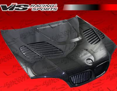 VIS Racing - BMW 3 Series 4DR VIS Racing GTR Black Carbon Fiber Hood - 02BME464DGTR-010C