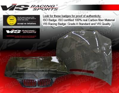 VIS Racing - BMW 3 Series 4DR VIS Racing OEM Black Carbon Fiber Hood - 02BME464DOE-010C