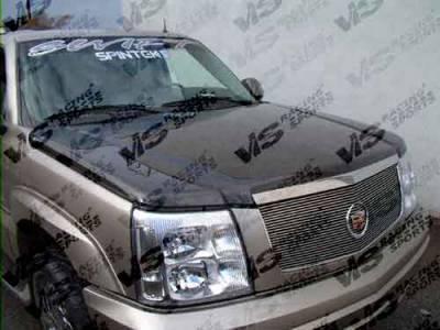 VIS Racing - Cadillac Escalade VIS Racing OEM Black Carbon Fiber Hood - 02CAESC4DOE-010C