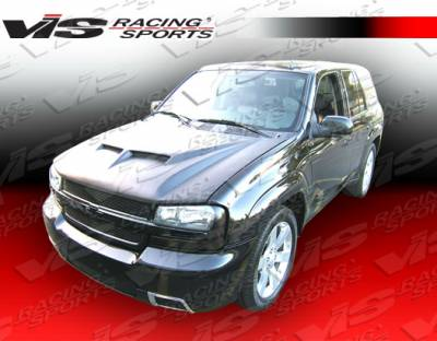 VIS Racing - Chevrolet Trail Blazer VIS Racing Fiberglass Outlaw Type 2 Hood - 02CHTRB4DOL2-010