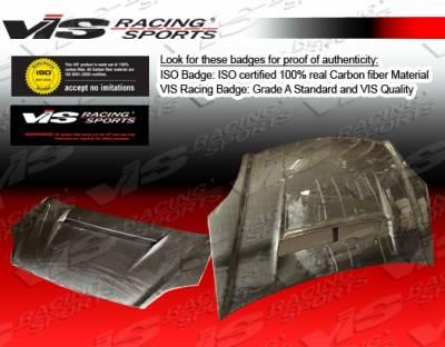 VIS Racing - Honda Civic VIS Racing N-1 Black Carbon Fiber Hood - 02HDCVCHBN1-010C
