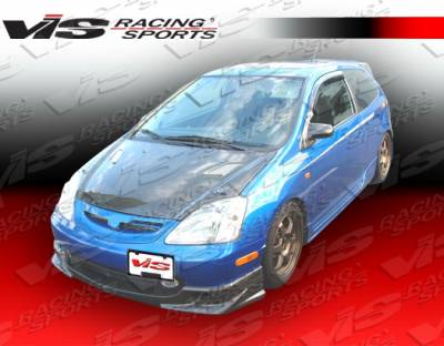 VIS Racing - Honda Civic VIS Racing Techno R Black Carbon Fiber Hood - 02HDCVCHBTNR-010C