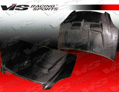 VIS Racing - Toyota Matrix VIS Racing Thunder Black Carbon Fiber Hood - 02TYMAT4DTHU-010C