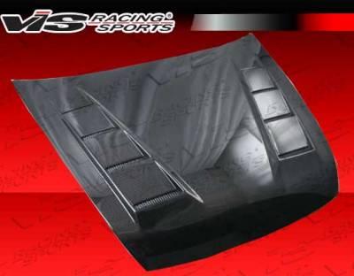 VIS Racing - Honda Accord 2DR VIS Racing Terminator Black Carbon Fiber Hood - 03HDACC2DTM-010C