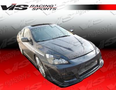 VIS Racing - Honda Accord 2DR VIS Racing Invader Black Carbon Fiber Hood - 03HDACC2DVS-010C