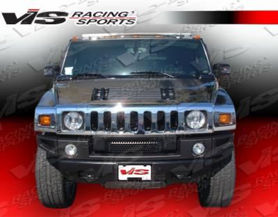 VIS Racing - Hummer H2 VIS Racing OEM Black Carbon Fiber Hood - 03HMH24DOE-010C