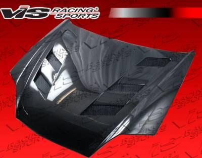 VIS Racing - Hyundai Tiburon VIS Racing AMS Black Carbon Fiber Hood - 03HYTIB2DAMS-010C
