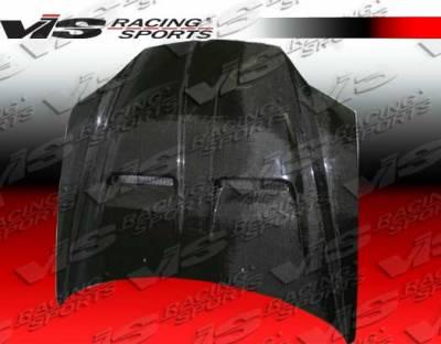 VIS Racing - Hyundai Tiburon VIS Racing Xtreme GT Black Carbon Fiber Hood - 03HYTIB2DGT-010C