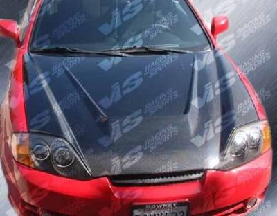 VIS Racing - Hyundai Tiburon VIS Racing Invader Black Carbon Fiber Hood - 03HYTIB2DVS-010C