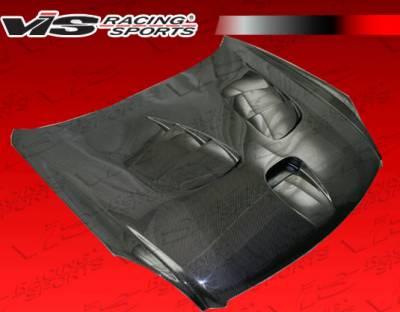 VIS Racing - Infiniti G35 2DR VIS Racing Fuzion Black Carbon Fiber Hood - 03ING352DFZ-010C