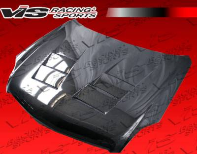 VIS Racing - Infiniti G35 2DR VIS Racing Terminator Black Carbon Fiber Hood - 03ING352DTM-010C