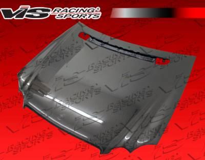 VIS Racing - Mercedes-Benz CLK VIS Racing OEM Black Carbon Fiber Hood - 03MEW2092DOE-010C