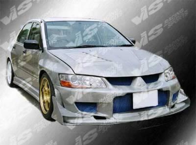 VIS Racing - Mitsubishi Evolution 8 VIS Racing GTC Black Carbon Fiber Hood - 03MTEV84DGTC-010C