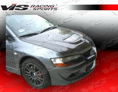 VIS Racing - Mitsubishi Evolution 8 VIS Racing OEM Black Carbon Fiber Hood - 03MTEV84DOE-010C
