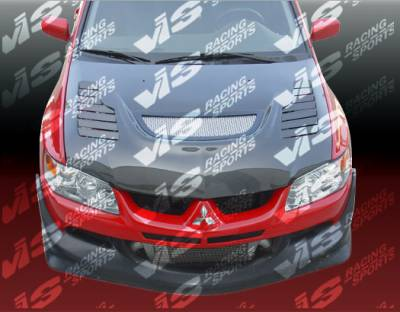 VIS Racing - Mitsubishi Evolution 8 VIS Racing Tracer Black Carbon Fiber Hood - 03MTEV84DTRA-010C