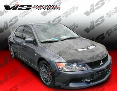 VIS Racing - Mitsubishi Evolution 8 VIS Racing Invader-2 Black Carbon Fiber Hood - 03MTEV84DVS2-010C