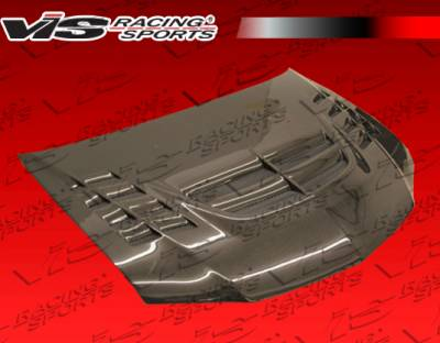 VIS Racing - Mitsubishi Evolution 8 VIS Racing VTX Black Carbon Fiber Hood - 03MTEV84DVTX-010C